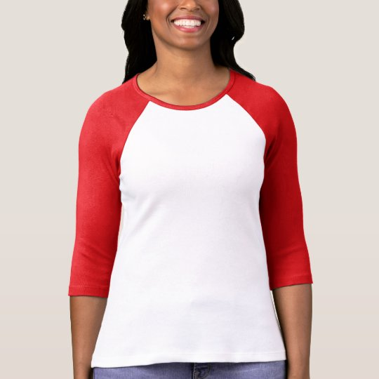 Plain white, red t-shirt for women, ladies