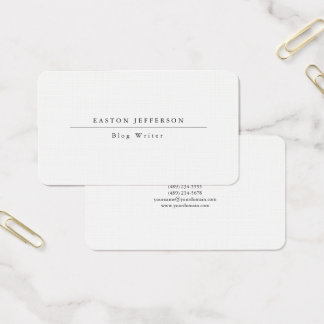 Plain White Simple Trend Professional Web Internet Business Card