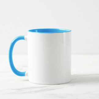 Plain White with Blue or Other Color Accents Mug
