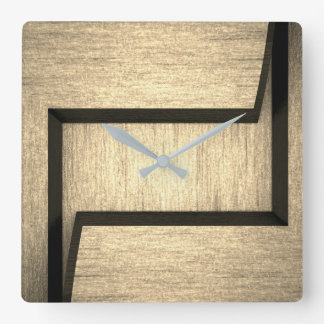 Plain wood design wall clock