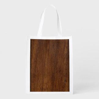Plain Wood Plank Reusable Grocery Bag