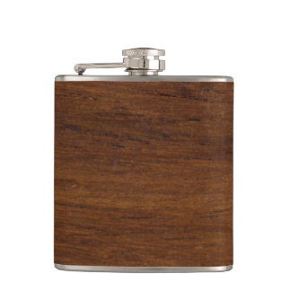 Plain Wood Simple Lumber Hip Flask