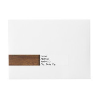 Plain Wood Simple Lumber Wraparound Address Label
