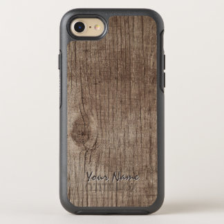 Plain Wood Texture with Name OtterBox Symmetry iPhone 8/7 Case