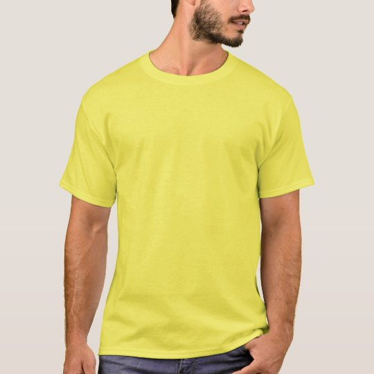 Plain Yellow Affordable Customizable Mens T-Shirt