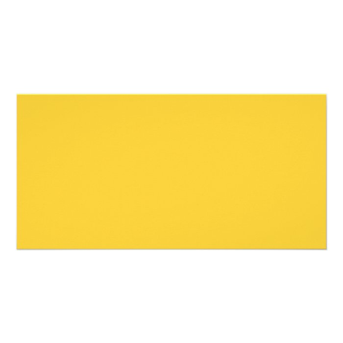Plain Yellow Background. Picture Card