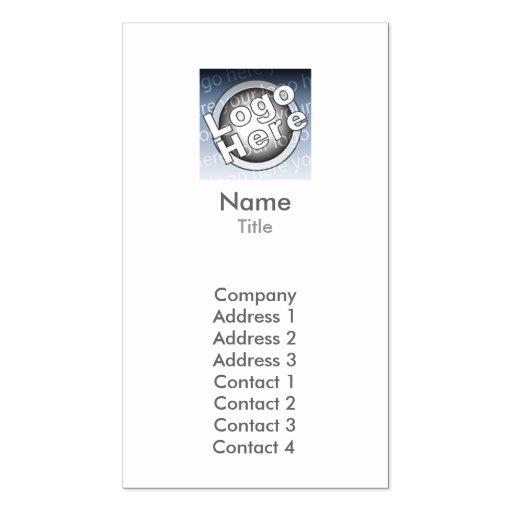 Plaine - affaires modèles de cartes de visite