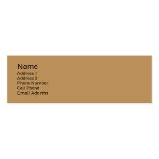 plaine bronzage de biege carte de visite petit format