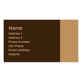 plaine bronzage de brun carte de visite standard