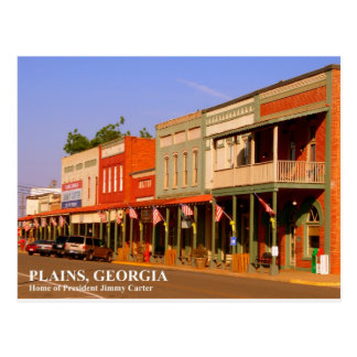 PLAINS, GEORGIA - Home of President Jimmy Carter Postcard