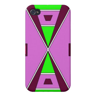 Plains Native American Beadwork - Purple/Green Case For iPhone 4