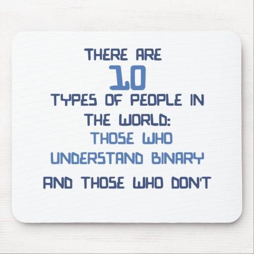 plaisanterie binaire tapis de souris