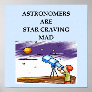 plaisanterie d'astronomie posters