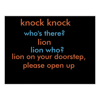plaisanterie de coup de coup de lion poster