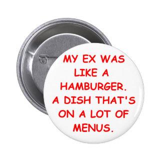 plaisanterie de divorce badge avec épingle