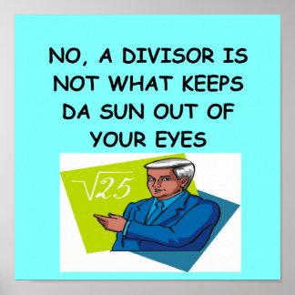 plaisanterie de maths poster