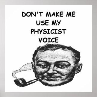 plaisanterie de physicien posters