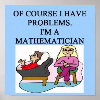 Plaisanterie de psychologie de MATHS Poster