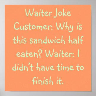 Plaisanterie de serveur posters