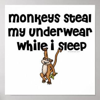 Plaisanterie de singe poster