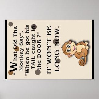 Plaisanterie de singe d'affiche
