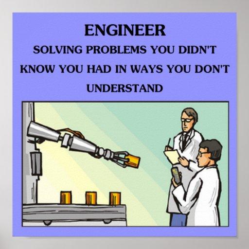 plaisanterie d'ingénierie d'ingénieur posters