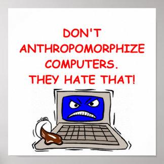 plaisanterie d'ordinateur poster