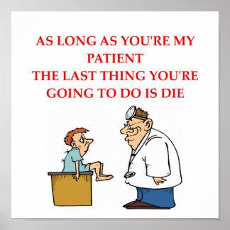 plaisanterie drôle de docteur poster