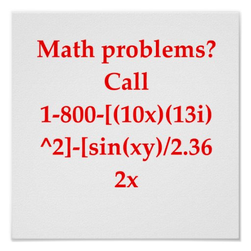 plaisanterie drôle de maths affiche