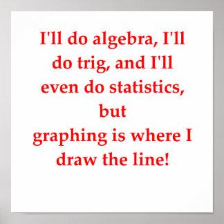 plaisanterie drôle de maths poster
