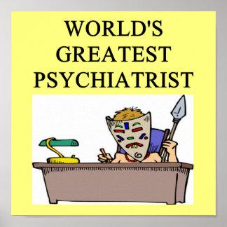 plaisanterie pgychiatry de psychologie poster
