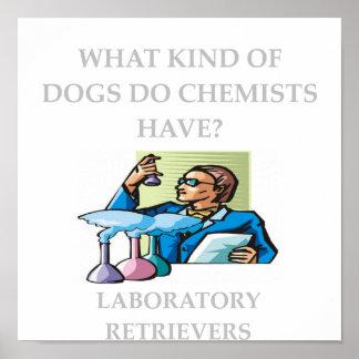 plaisanteries de chimie poster