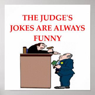 plaisanteries de juge poster