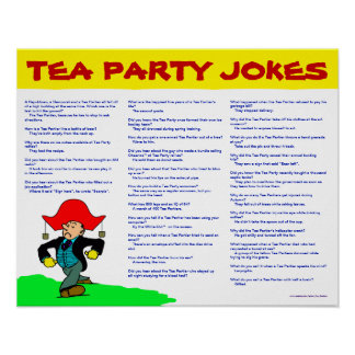 Plaisanteries de thé poster
