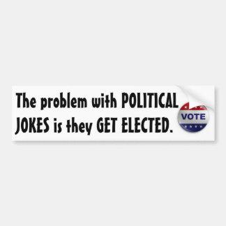 Plaisanteries politiques autocollant de voiture