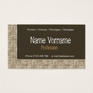 plaited business card