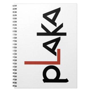 Plaka Logo Notebooks