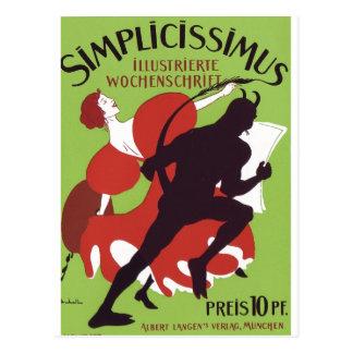 Plakat Heine - Simplicissimus 1896 Postcard