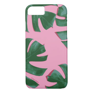 Plalm Trees Leaf Tropical Glam Pink iPhone 7 iPhone 7 Case