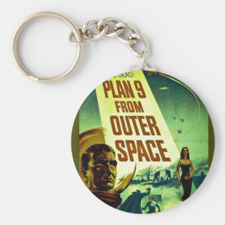Plan 9 From Outer Space Basic Round Button Keychain