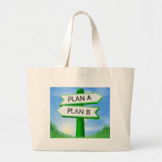 Plan A or Plan B sign concept Canvas Bag