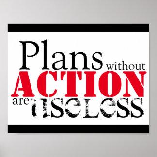 Plan Action Poster