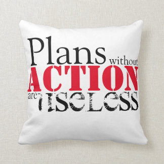 Plan Action Throw Pillow