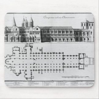 Plan and elevation of Cluny Abbey Mouse Pad
