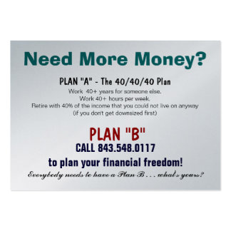 Plan B Sizzle Card Business Card Templates