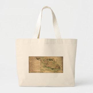 Plan de Rhode Island Map (1778) Jumbo Tote Bag