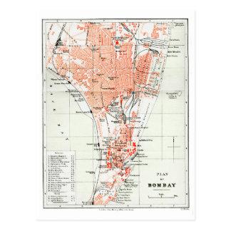 Plan of Bombay - British India Postcard
