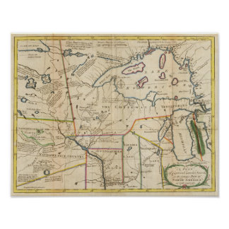 Plan of Captain Carvers Travels Poster