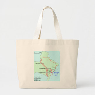 Plan of Carthage Tote Bags