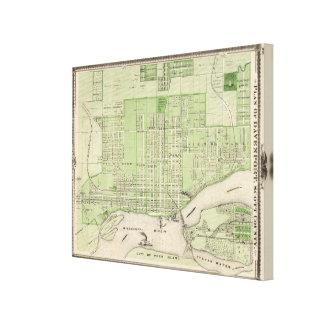 Plan of Davenport, Scott County, State of Iowa Canvas Print